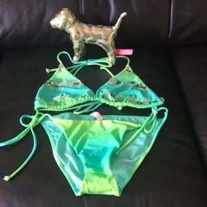 Victoria secret two piece and dog